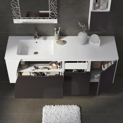 Mobile bagno Soft grigio L 152,5 cm