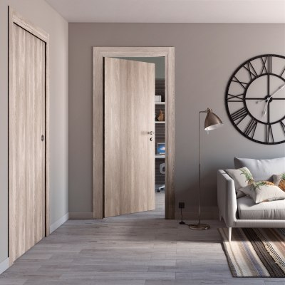 Porta da interno scorrevole Plank 60 x H 210 cm reversibile