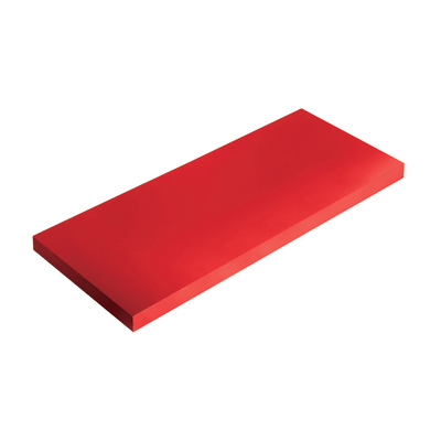 Mensola Spaceo rosso L 90 x P 23,5, sp 3,8 cm