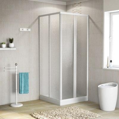 Box doccia scorrevole Elba 62-64 x 62-64, H 185 cm cristallo 3 mm piumato
