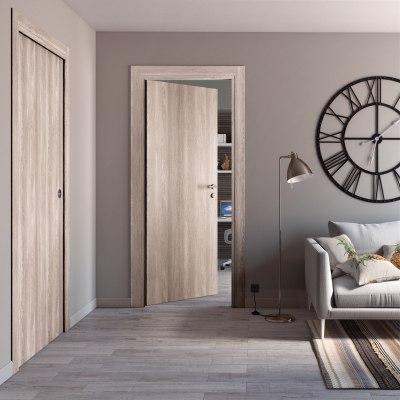 Porta da interno pieghevole Plank 80 x H 210 cm sx