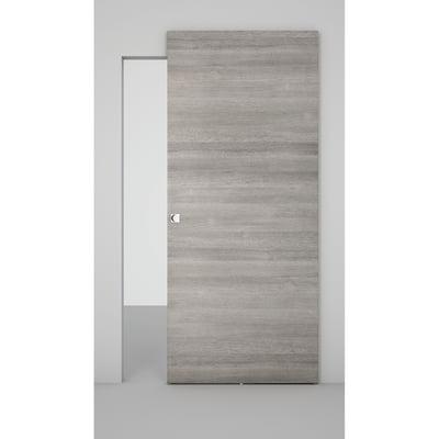 Porta da interno scorrevole Space binario nascosto grigio 101 x H 230 cm sx