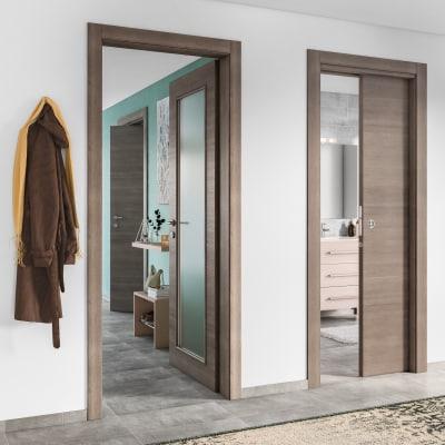Porta da interno battente Stylish Grigio 60 x H 210 cm reversibile