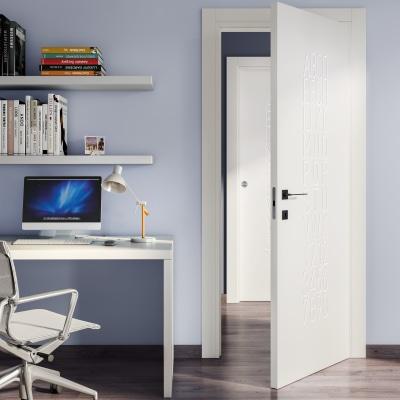 Porta da interno rototraslante Keyboard white bianco 70 x H 210 cm sx