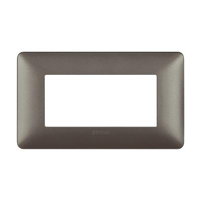 Placca 4 moduli BTicino Matix iron