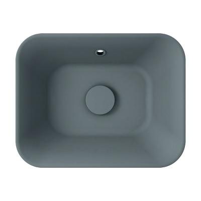 Lavabo da appoggio rettangolare Capsule L 48 x P 13 x H  35 cm grigio