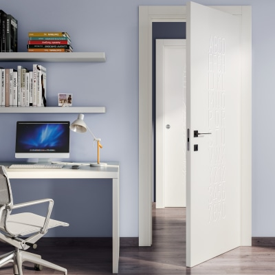 Porta da interno battente Keyboard white bianco 70 x H 210 cm dx