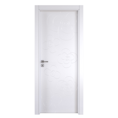 Porta da interno battente Flower white bianco 80 x H 210 cm dx