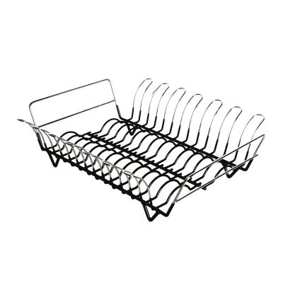 Scolapiatti cromo/nero L 45 x P 39 x H 14 cm