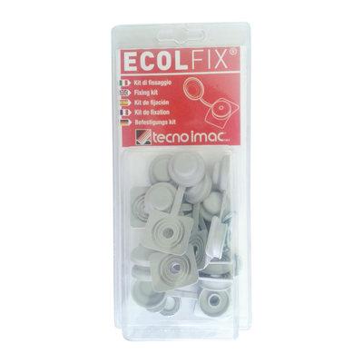Copriviti Ecolfix grigio, confezione da 10 pezzi