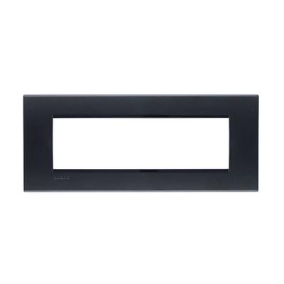 Placca 7 moduli BTicino Livinglight antracite