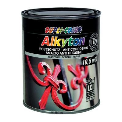 Smalto per ferro antiruggine Alkyton nero RAL 9005 brillante 0,75 L