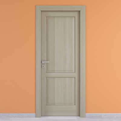 Porta da interno battente Vermeer rovere sbiancato 60 x H 210 cm dx