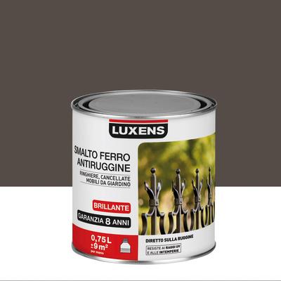 Smalto per ferro antiruggine Luxens marrone cioccolato brillante 0,75 L