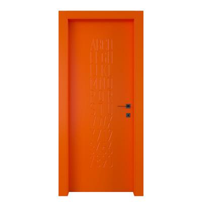 Porta da interno battente Keyboard orange arancio 80 x H 210 cm sx