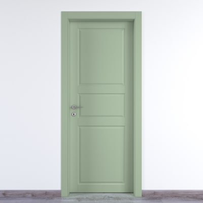 Porta da interno battente New York verde 90 x H 210 cm dx