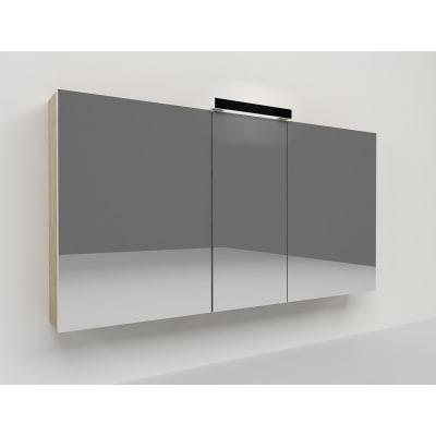 Specchio contenitore Key L 120 x H 62 x P  15 cm rovere