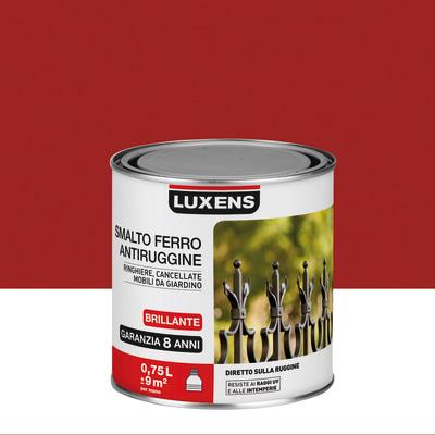 Smalto per ferro antiruggine Luxens rosso brillante 0,75 L