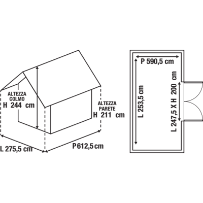 Garage in metallo Orlando, 16,9 m²