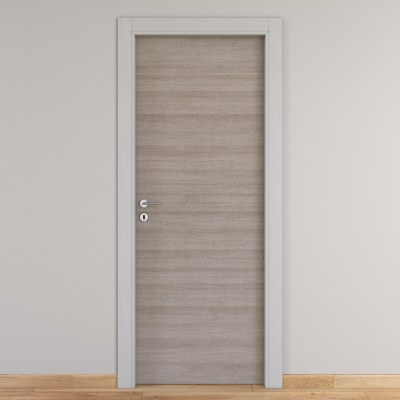 Porta da interno battente One grigio/white 90 x H 210 cm reversibile