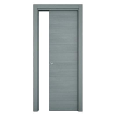 Porta da interno scorrevole Resort Larice ghiaccio 70 x H 210 cm reversibile