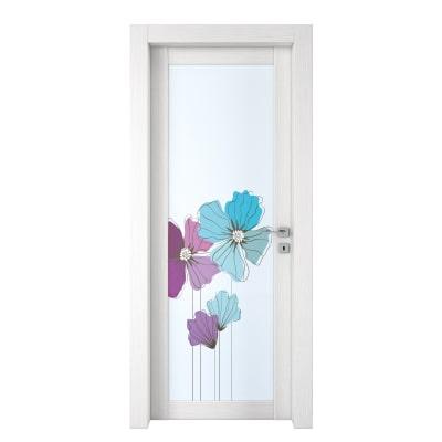 Porta da interno battente Eden larice bianco 80 x H 210 cm sx