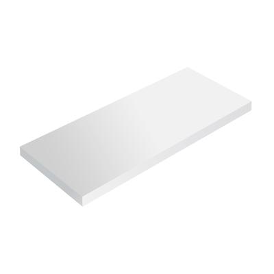 Mensola Spaceo bianco L 76 x P 23,7, sp 2,2 cm