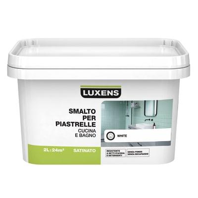Smalto Per piastrelle Luxens Bianco satinato 2 L