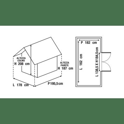 casetta in polipropilene Factor 6x6 Keter 2,95 m²