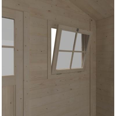casetta in legno grezzo Narciso Plus 3,73 m², spessore 19 mm