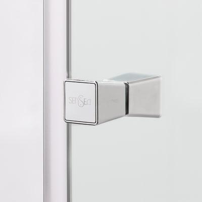 Box doccia scorrevole Dado 67.5-69 x 87,5-89, H 185 cm cristallo 5 mm stampato/silver