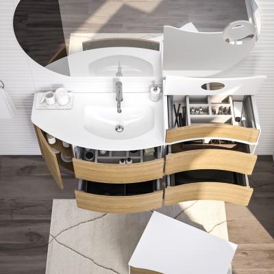 Mobile bagno Soho rovere tabacco L 150 cm