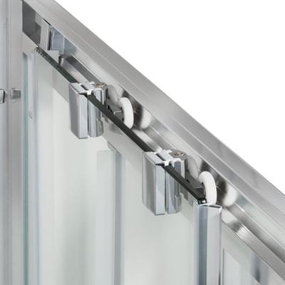 Box doccia scorrevole Quad 77.5-79 x 77,5-79, H 190 cm cristallo 6 mm serigrafato/silver