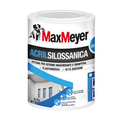 Pittura acrilsilossanica e elastomerica per esterno Max Meyer bianco 0,75 L