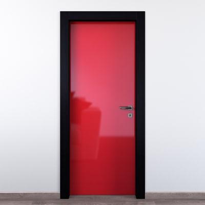 Porta da interno battente Dalì rosso lucido 80 x H 210 cm sx