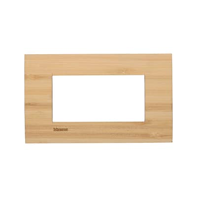 Placca 4 moduli BTicino Livinglight bambù