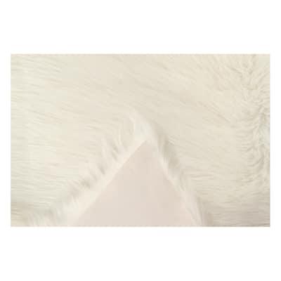 Tappeto Mongolia eco bianco 60 x 90 cm
