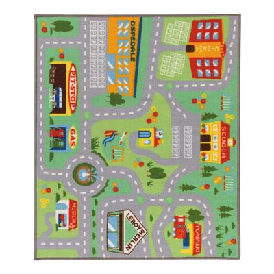 Tappeto play rug multicolore 120 x 100 cm prezzi e offerte for Leroy merlin tappeti