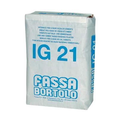 Intonaco di finitura a grana fine IG21 bianco Fassa Bortolo 30 kg