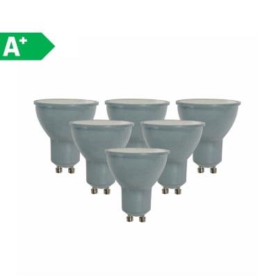 6 lampadine LED Lexman GU10 =50W luce naturale 100°