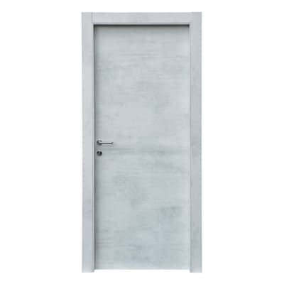 Porta da interno battente Cemento 90 x H 210 cm reversibile