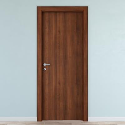 Maniglia per porta con rosetta e bocchetta Itaca in alluminio