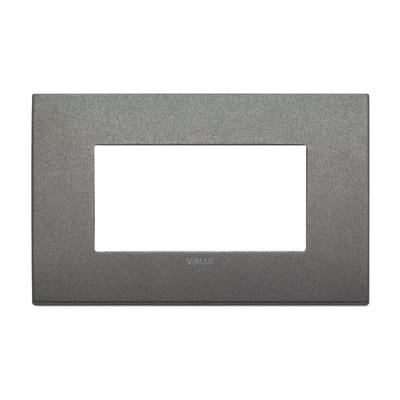 Placca 4 moduli Vimar Arké titanio matt