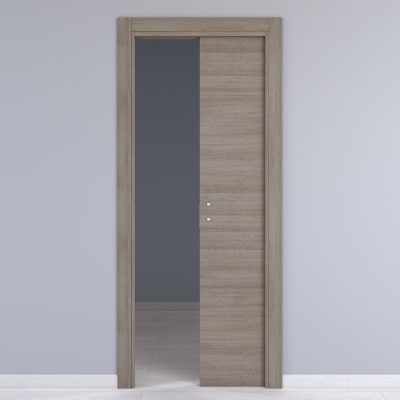 Porta da interno scorrevole One gray cenere 70 x H 210 cm reversibile