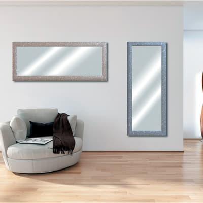 Specchio da parete rettangolare glitterata argento 62 x 162 cm prezzi e offerte online leroy - Specchio rettangolare da parete ...
