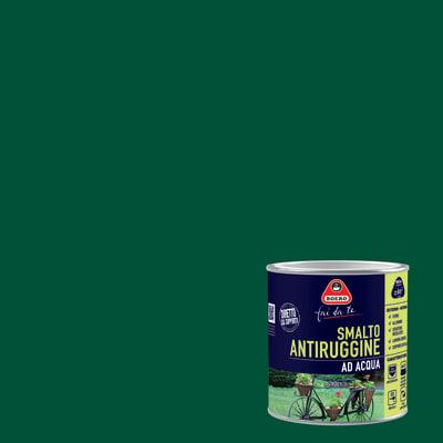 Smalto per ferro antiruggine verde imperiale satinato 0,5 L