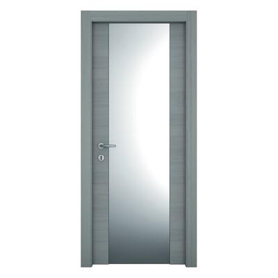 Porta da interno battente Resort Vetro Larice ghiaccio 60 x H 210 cm sx