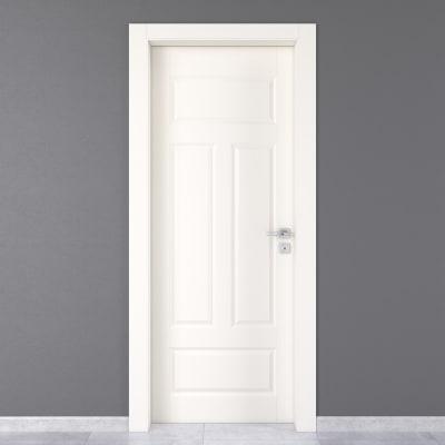 Porta da interno battente Coconut Groove bianco 70 x H 210 cm sx