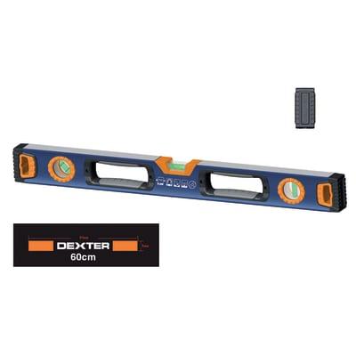 Livella magnetica rettangolare Dexter 60 cm 3 fiale