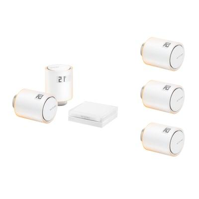 Kit per riscaldamento collettivo - relè + 5 valvole intelligenti per termosifoni Netatmo by Starck®